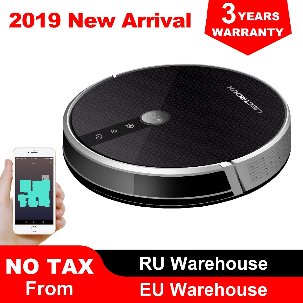 LIECTROUX C30B Roboter Staubsauger, Karte navigation, 3000Pa Saug-,, Smart Memory, karte Display auf Wifi APP, Elektrische Wasser tank
