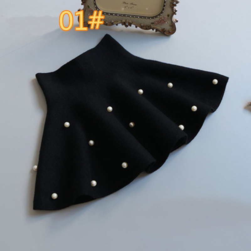 TONGMAO New Fall and Winter Children 39 s Clothing Girls Fashion Casual Knit Skirt Bottoming Pearl Princess Tutu Skirts Wild Child in Skirts from Mother amp Kids