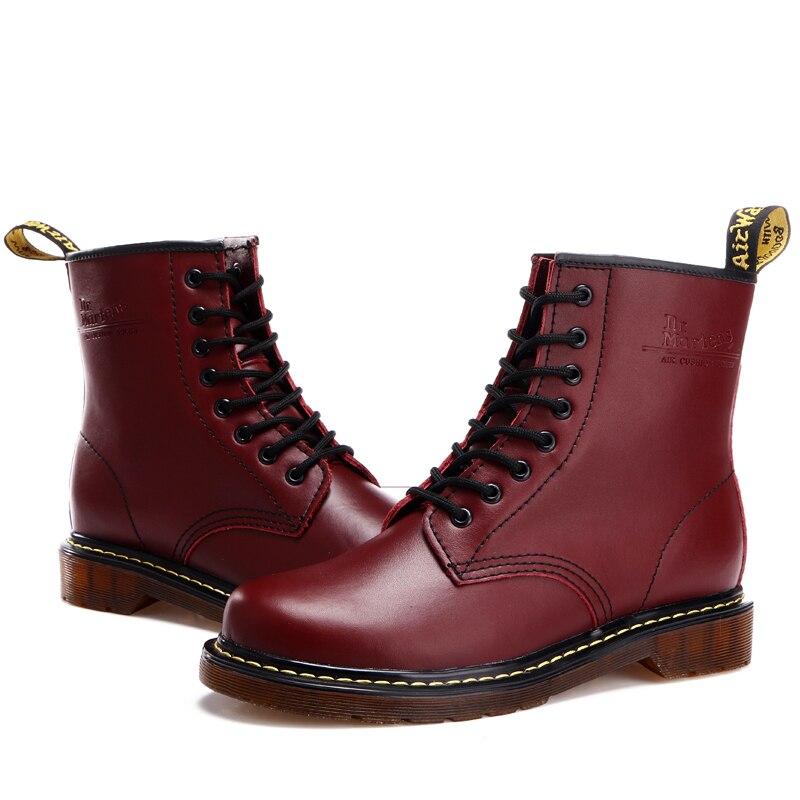 La Fur brown Vin 45 Boots Rouge red Noir Mode Hiver Cn Neige Taille Boots Bottes Plus Paak Cheville 46 black Boots De En Casual Hommes Cuir Nouvelle Qualité Black Boots Chaussures wpq6vwF