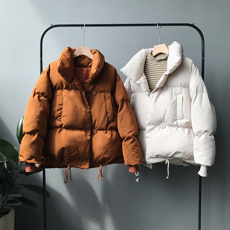 CamKemsey Thicken Women Parkas 18 New Casual Turtleneck Loose Down Jacket Female Warm Cotton Padded Winter Coat Women 2