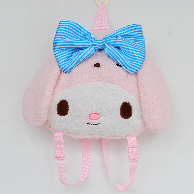 candice guo! Super cute plush toy lovely sweet bowknot my melody soft backpack schoolbag bag girls birthday Christmas gift 1pc candice guo super q cartoon chubby hamster squirrel plush toy doll backpack shoulder bag birthday gift 1pc
