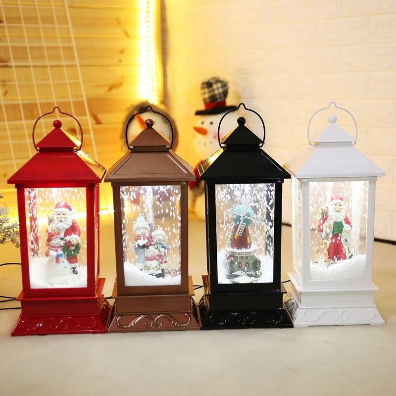 Nouvelles décorations de noël créatif neige musique lanterne Festival scène décoration accessoires brillant boule de verre avec jouet de neige Speelgoed