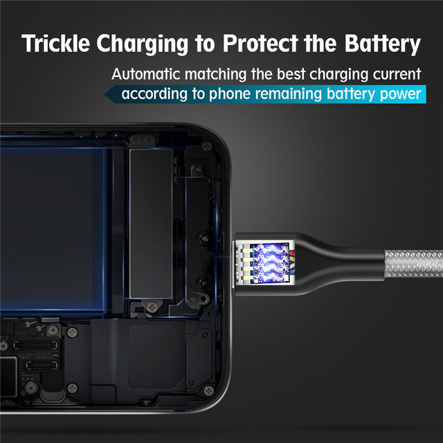 USB Cable for iPhone X XS ROCK Fast Charging Micro Cable for Samsung Type C