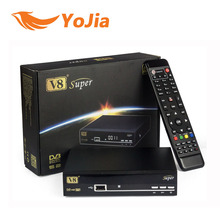 5 unids V8 Súper Receptor de Satélite DVB-S2 TV Soporte Youtube Youporn Cccamd Newcamd Biss Clave PowerVu Set Top Box