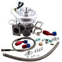 Для гибридного T3 T4 T3T4 TO4E v группа Turbo 0,63 AR слива масла Вернуться линии подачи комплект для 2,0 3.5L/R 0,50 0. 63 двигателя сбалансированный
