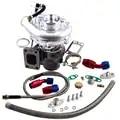 Para Hybrid T3 T4 T3T4 TO4E v band Turbo 0,63 AR Kit de línea de retorno de drenaje de aceite para 2,0 3.5L A/R 0,50 0. 63 motor equilibrado
