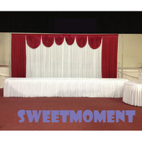 A Set Wedding Backdrop Stand For Decoration With Detachable Swag And