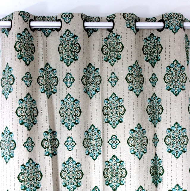 Buy vezo home new vintage flowers linen for Cortinas vintage