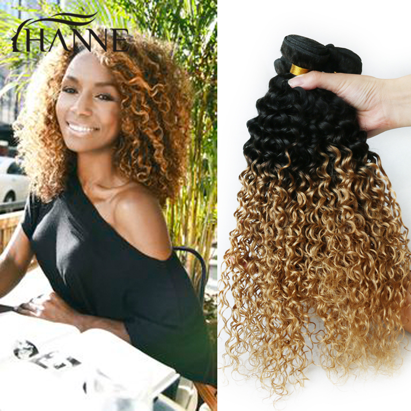 Short Curly Hair Weave Bundles 3pcs Afro Kinky Curly Hair Two Tone 1b 27 Honey Blonde Two Tone Ombre Indian Human Hair Extension Weave Weaving Stoolweave Watch Aliexpress