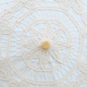 Image 5 - 2020 קיץ בציר תחרה כלה מטריות 68cm * 52cm לבן נשים שמש מטריית חתונה מטריית עבור הכלה שמש הגנת מטרייה