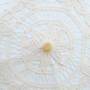 Image 5 - 2020 sommer Vintage Spitze Braut Regenschirme 68cm * 52cm Weiß Frauen Sonnenschirm Hochzeit Regenschirm für Braut Sonne schutz Regenschirm