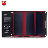 New Arrival PowerGreen 21W Foldable Solar Panel Charger 5V 2A Solar Power Bank SUNPOWER Battery Pack for Traveling