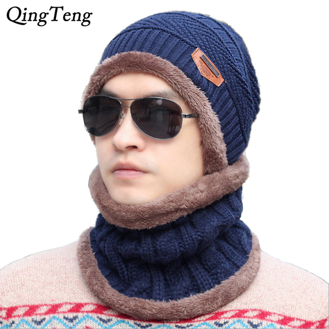 1d2d9d03ab1 2018 Brand Beanies Knit Men S Winter Caps Skullies Beanies Bonnet Knitted  Ring Scarf   Hat For