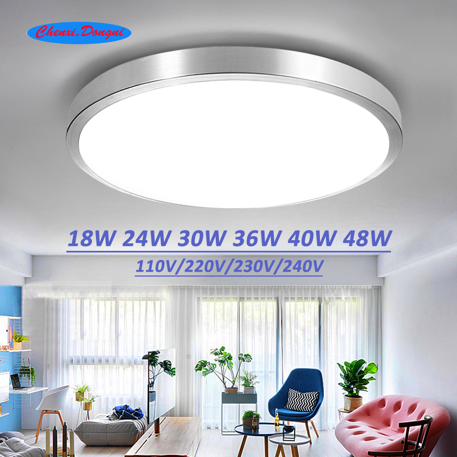 Ceiling Lights Modern Ceiling Lights Ac 220v 240v 12w 24w 36w 48w Led Ceiling Light Color Shell Remote Control Panel Lamp Fixture Living Room Rich And Magnificent Back To Search Resultslights & Lighting