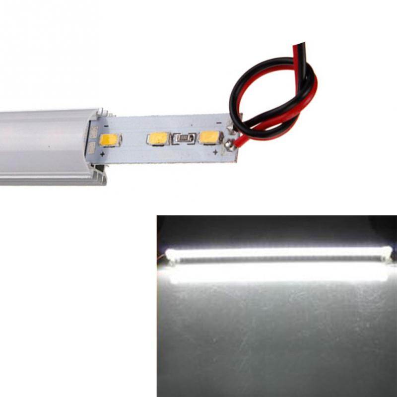 50cm 9W 5630 SMD 36 LED Waterproof Rigid Strip Cabinet Light Hard Rigid Strip Bar Light Alloy shell pc cover Bar Light