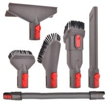 6 Pcs Attachment Kit Brush Tool For Dyson V7 V8 V10 For Dyson Vacuum Cleaner Mattress Tool Crevice Tool Nozzle Dyson Parts цена и фото
