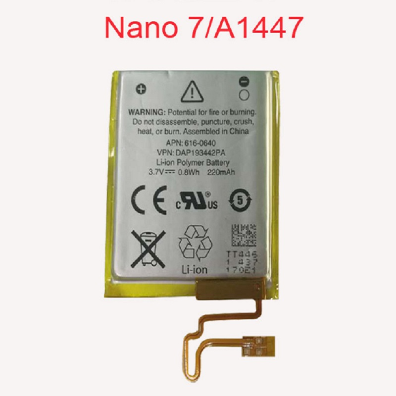 330mAh 3.7V Li-ion Battery Replacement 330mAh for iPod Nano 7 7th Gen with Free Tools 3 7v li ion battery replacement 330mah for ipod nano 7 7th gen with tools free shipping