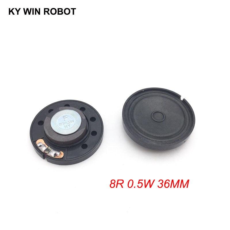2pcs/lot New Ultra-thin Speaker Doorbell Horn Toy-car Horn 8 Ohms 0.5 Watt 0.5W 8R Speaker Diameter 36MM 3.6CM Thickness 9MM