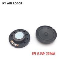 2pcs/lot New Ultra-thin speaker Doorbell horn Toy-car 8 ohms 0.5 watt 0.5W 8R Diameter 36MM 3.6CM thickness 9MM