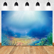 Neoback Underwater World Sunlight Photography Backdrops Fish coral Custom Birthday Party Baby Shower Photo Background Photophone