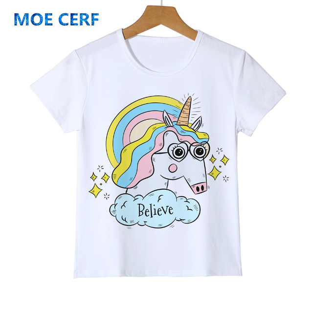 e38701b86fb Brand New Infant Toddler Child Kid Baby Girls Unicorn T-shirts Tops Tees  Shirts Cute Top Casual Cartoon Clothes Y14-61