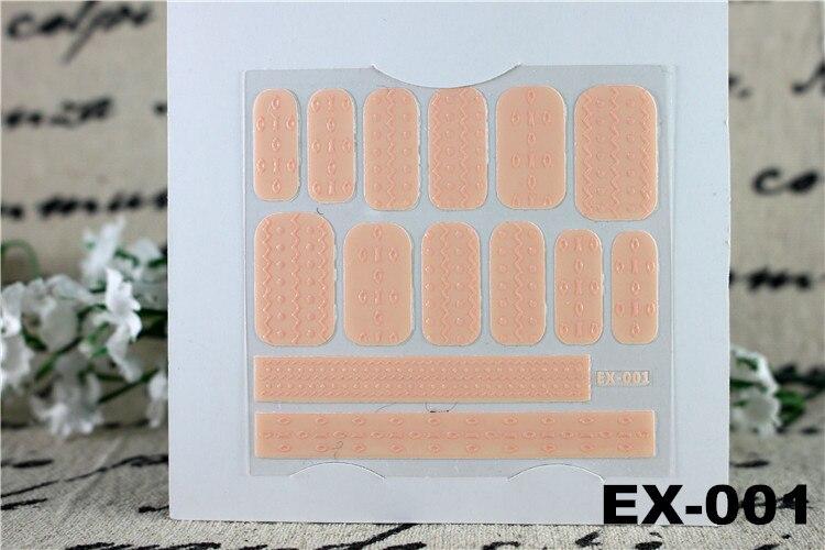6 հատ / լոտ Decals 3D եղունգների պիտակ - Մանիկյուր - Լուսանկար 4