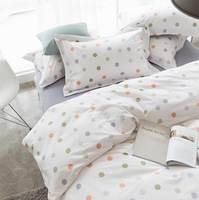 Милые в горошек комплект постельных принадлежностей для взрослых подростков Ребенок, девочка, полный королева король хлопок Песок домашни...