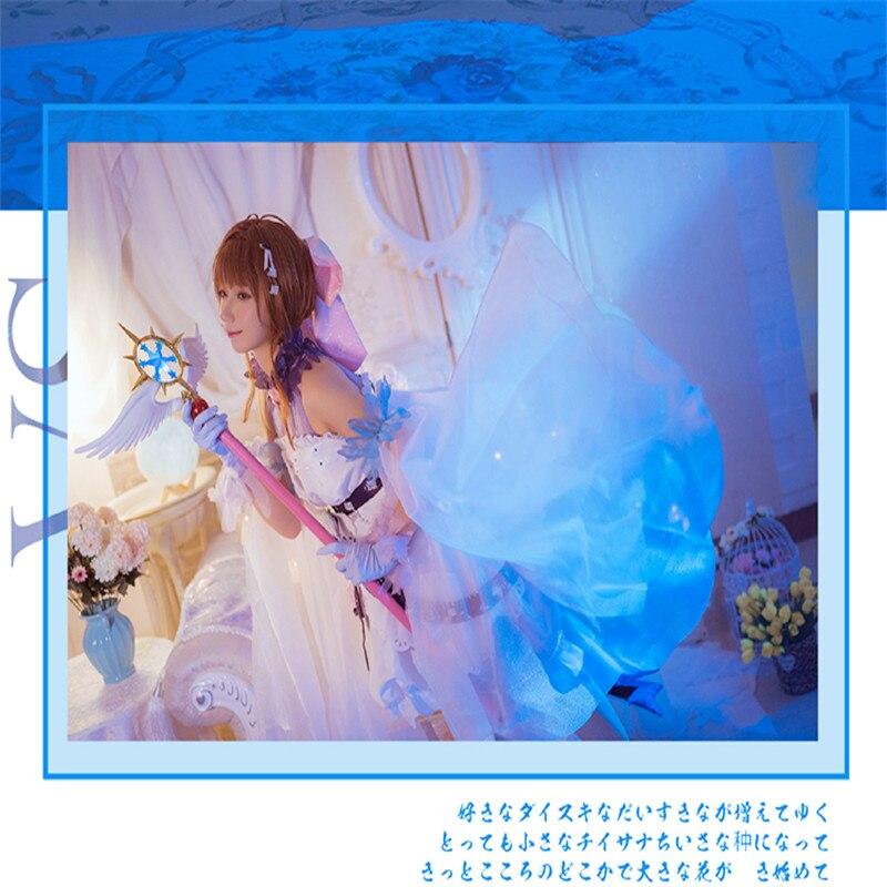 Traje Cosplay Anime Cardcaptor Sakura SAKURA KINOMOTO Sakura Queda de Neve LI SYAORAN Fairy Dress Vestido Z
