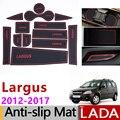 Anti-Slip Gate Slot Mat Cup Rubber Pads Rug for Lada Largus Dacia Logan MCV 2012 2013 2014 2015 2016 2017 Accessories Stickers