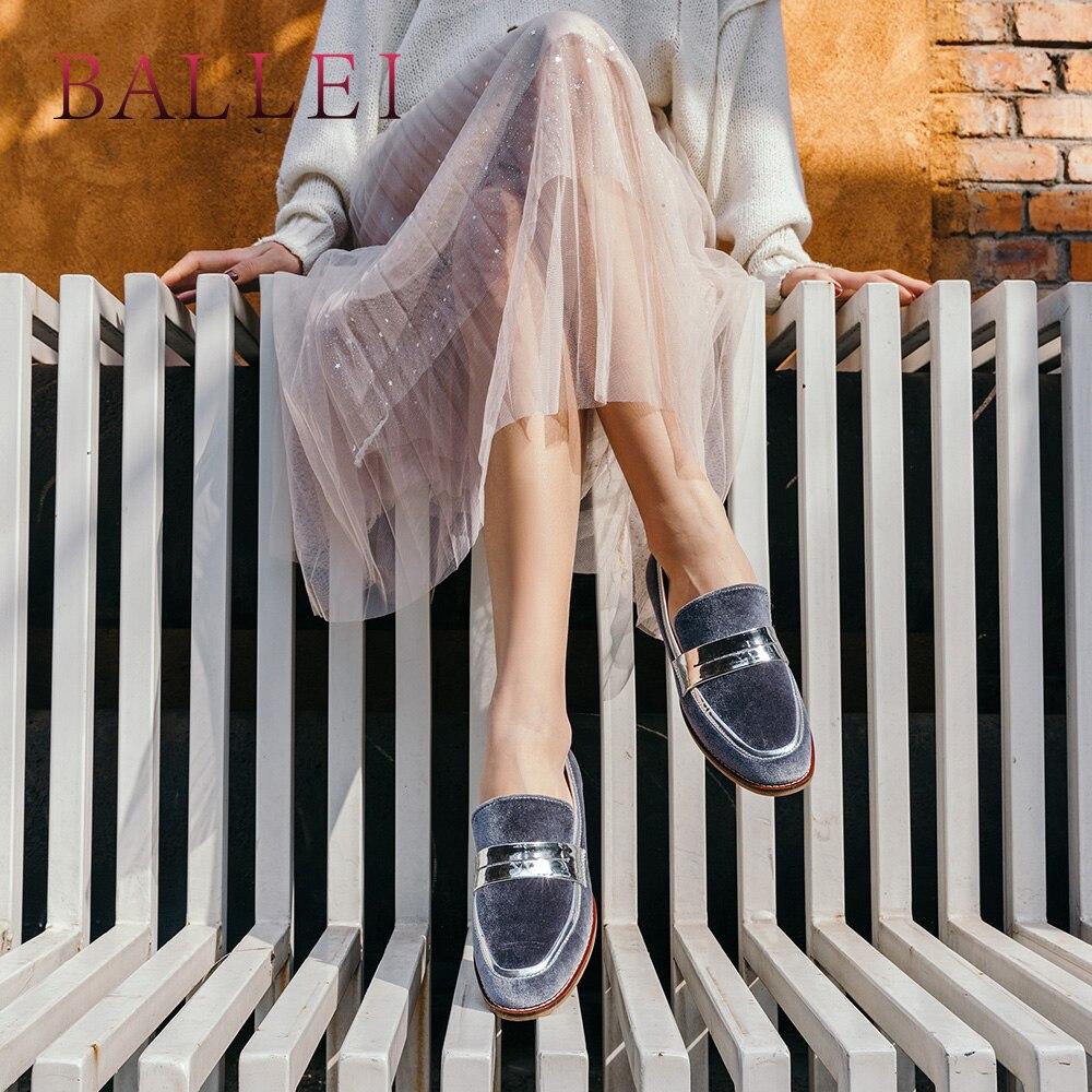 Bas Confortable Rond Luxe Décontracté Bout Rétro P35 Qualité Slip on Classique Talon Ballei Supérieure gray Femme Chaussures Troupeau Appartements Élégant Black De xgOzqUWB8c
