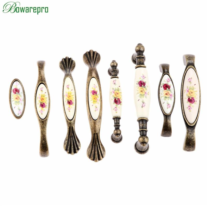 Beste Koop Bowarepro Vintage Keramische Kabinet Handles Kast