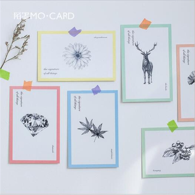 Pc061 30pcslot Signature Of All Things Drawing Postcard Set