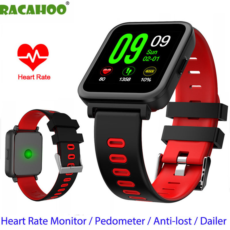 RACAHOO Bluetooth Smart Watch Heart Rate Sleep Monitor Pedometer Fitness Smartwacth For IOS Android xiaomi huawei samsung phone