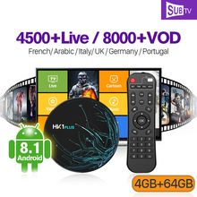 1 Year IPTV France Arabic SUBTV IP TV Box HK1 PLUS Android 8.1 4G+64G BT Dual-Band WIFI IPTV France Arabic Canada Italy Code french iptv france arabic italy canada hk1 max android 9 0 4g 64g bt dual band wifi iptv france arabic ip tv italy canada subtv