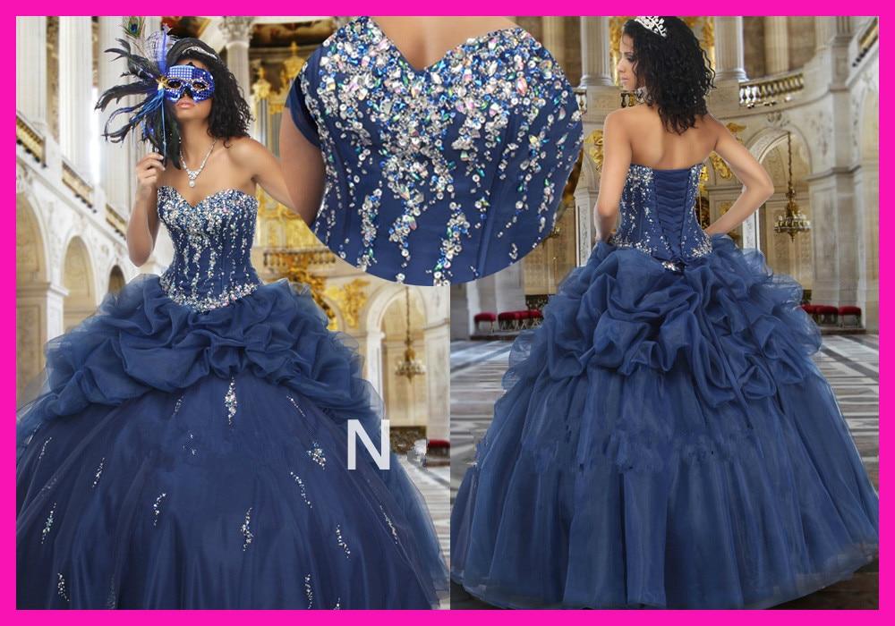 Robe de bal formelle robe de bal bleu marine perlée robe de bal de promo Quinceanera robes avec veste Organza vestidos de 15 anos