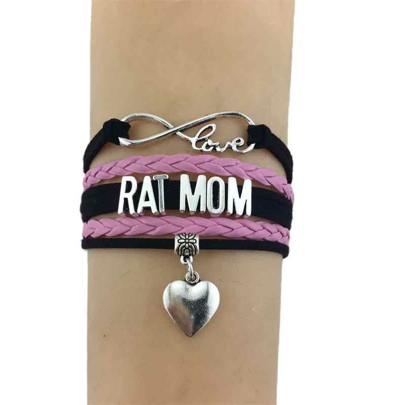Caxybb модные браслеты с крысой для мамы, 2017, очаровательный кожаный браслет для женщин, подарки для мамы, ювелирные изделия, B-L120170