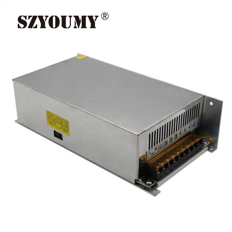 SZYOUMY Dimmable LED Driver Switch Power Supply AC 110V/220V to DC 12V 40A 480W Voltage Transformer For Led Strip Light