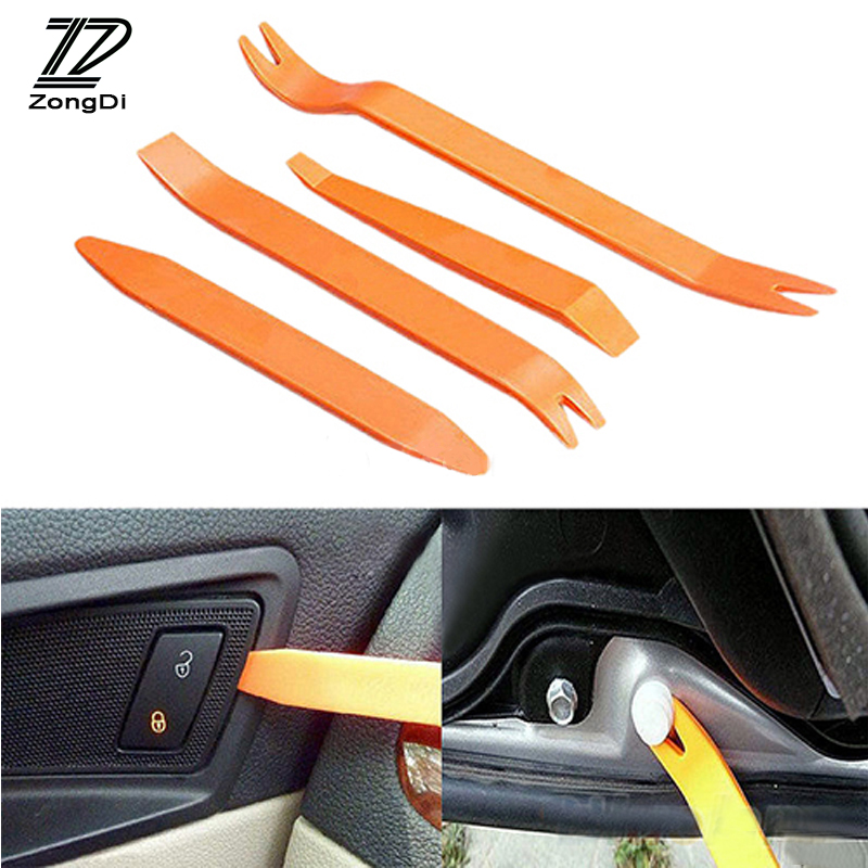 ZD 4pc Car Styling Audio Door Removal Tool Stickers For Mercedes W203 W211 W204 W210 Benz BMW F10 E34 E30 F20 X5 E70 Accessories цена