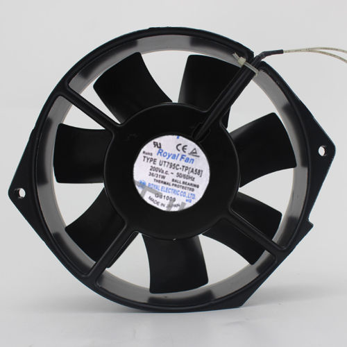 Royal Fan UT795C-TP9 [A58] AC200V 36/31W 172*150*38MM 2 wires cooling fan tg17055ha2bl ac 220v 0 3a 46w 50 60hz 3100rpm double ball bearing 17255 17cm 172 150 55mm 2 wires silent cooling fan