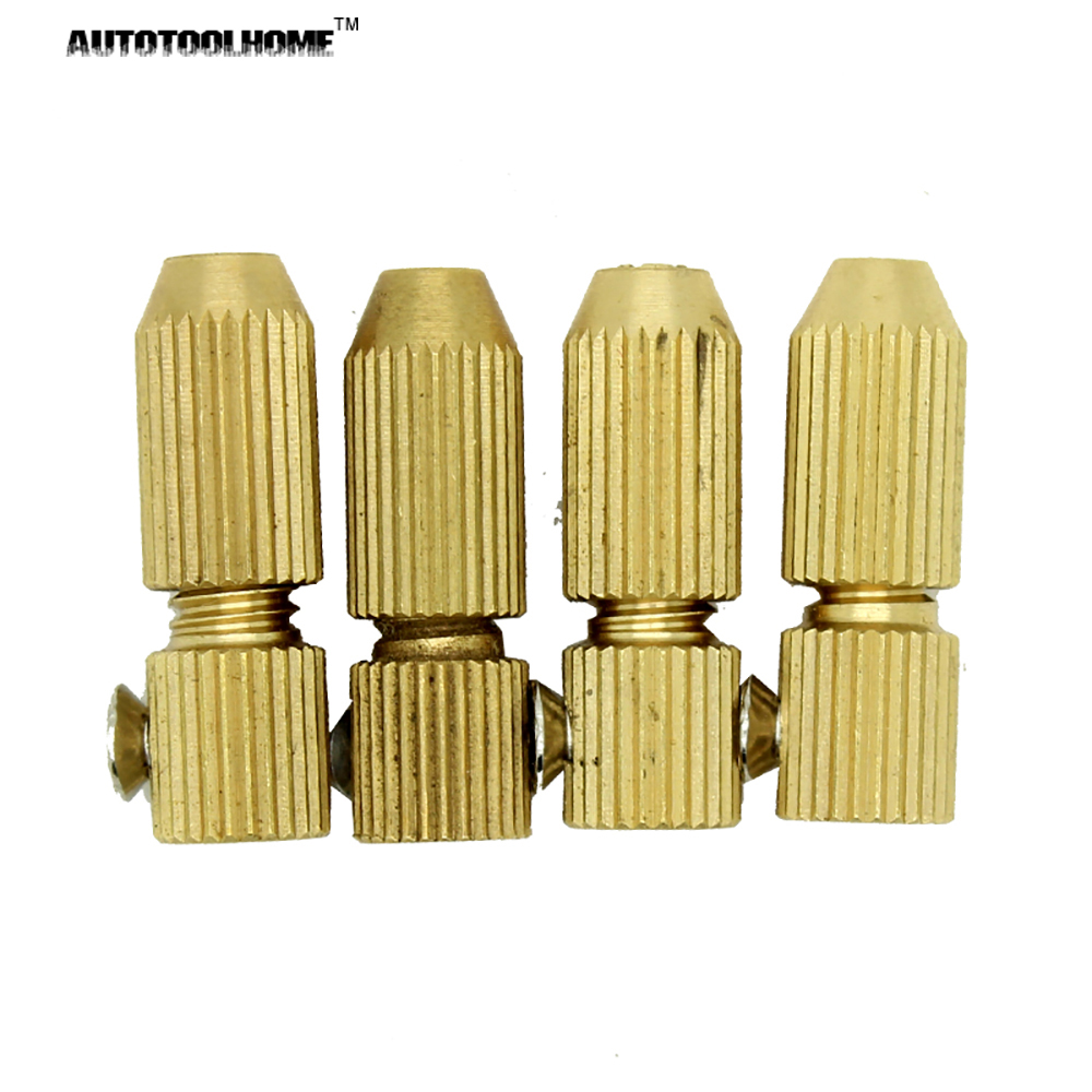 4pc/Lot 0.7-3.17mm Brass Small Electric Drill Bit Collet Micro Twist Drill Chuck Set For 2.3mm Motor Shaft 2 3mm mini drill chuck collet clamp adapter bit socket set micro brass drilling cartridge power tools for woodworking