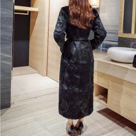 Vison Luxe Manteaux Fourrure D'hiver Faux 2018 Manteau Vestes Vague X Vintage Grand Femmes M757 long Furry De xIYqOxF