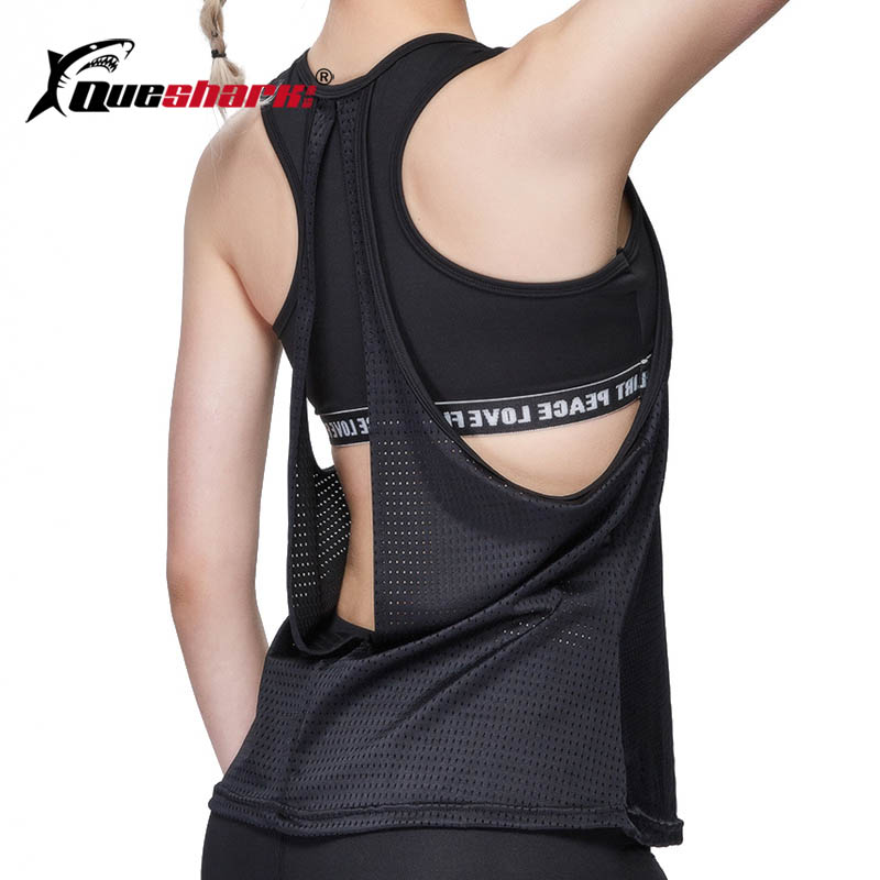 ①  2 в 1 женщины сексуальный с открытой спиной без рукавов жилет для йоги фитнес-йога рубашка внутри сп ✔