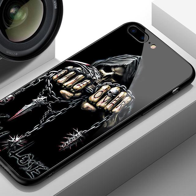3D SKULL LUXURY TEMPERED GLASS IPHONE CASE (9 VARIAN)