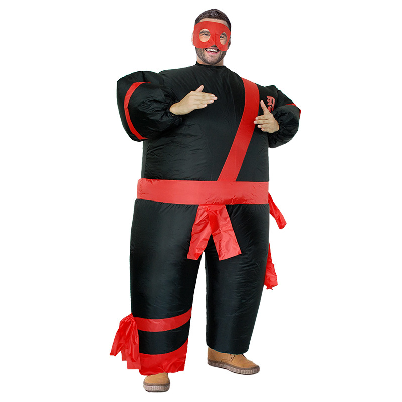 Adult Cosplay Japanese Ninja Inflatable Clothing Hot Sale Spoof Party Big Fat Man Performance Costume Halloween Funny Clothes