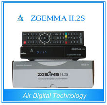Best Offer for 10pcs/lot ZGEMMA H .2S with Twin Tuner DVB-S2 + DVB-S2 Dual Core Satellite Receiver support TF memory Card
