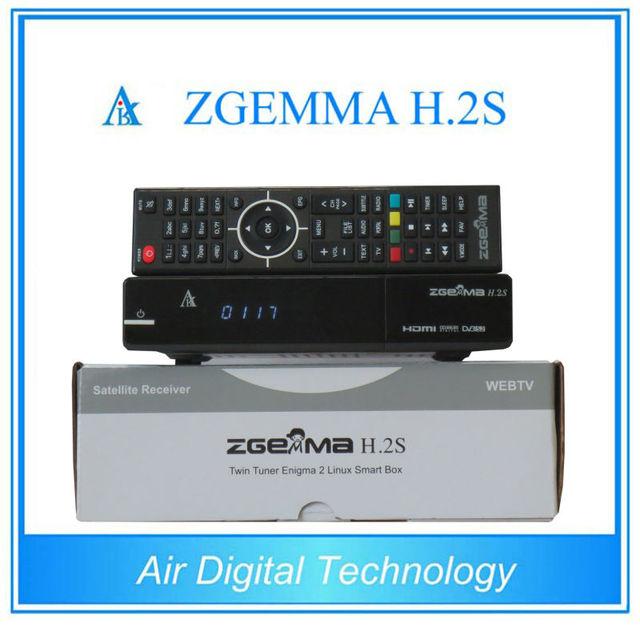 Mejor oferta para 10 unids/lote zgemma h. 2 s con doble sintonizador DVB-S2 + DVB-S2 de Doble Núcleo Receptor de Satélite soporte de memoria TF tarjeta