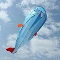 Alta Qualidade 3D Enorme Parafoil Macio Gigante Golfinho Golfinhos Pipas Kite Desporto Ao Ar Livre fácil de Voar Sem Moldura Azul voando brinquedos