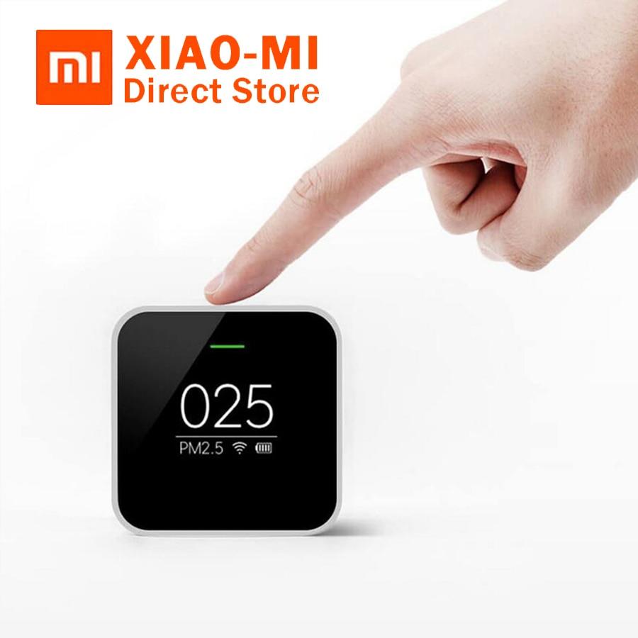Original Xiaomi PM2.5 Detector Sensor MI PM 2.5 Air Detector Portable OLED Screen Wifi 2.4GHZ Monitoring High-precision Laser цены