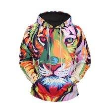 faa5fc3b1958 2018 neue Hip Hop Tiger Hoodies 3D Gedruckt Männer Frauen Fronttasche Loose  Fit Kordelzug Kapuze Sweatshirt Frühling Kleidung