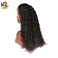 KL Hair 250 Density Deep Wave Lace Front Human Hair Wigs For Black Women Pre Plucked